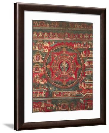Mandala of Amoghapasa, 1860--Framed Giclee Print