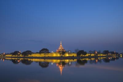 Mandalay City Fort and Palace Reflected in the Moat Surrrounding the Compound-Matthew Williams-Ellis-Photographic Print