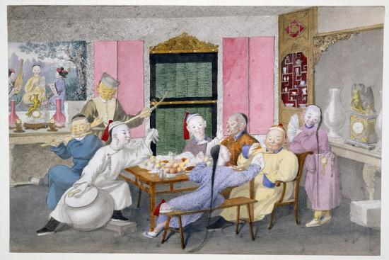 Mandarin Being Entertained by Musicians C.1860--Giclee Print