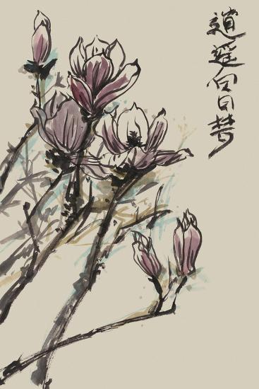Mandarin Magnolia II-Melissa Wang-Art Print