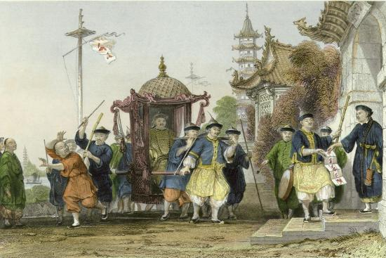 Mandarin Paying Visit-Thomas Allom-Art Print