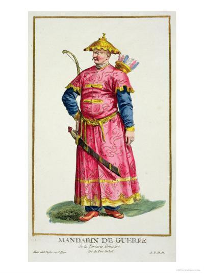 Mandarin Warlord from Receuil Des Estampes, Published 1780-Pierre Duflos-Giclee Print