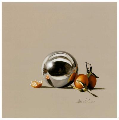 Mandarine et Boule-Bedarrides-Art Print