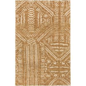 """Mandela Area Rug - Gold/Beige 5' x 7'6"""""""
