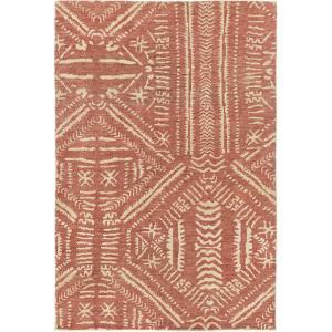 "Mandela Area Rug - Rust/Beige 5' x 7'6"""
