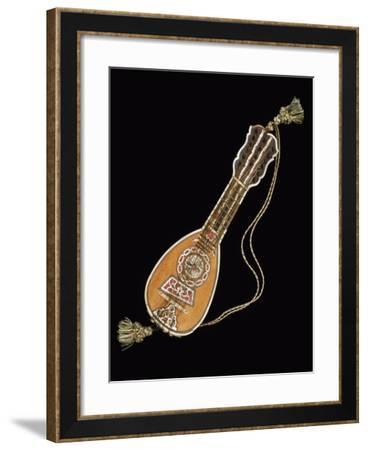 Mandola on Black Background--Framed Giclee Print