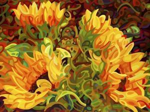 Four Sunflowers by Mandy Budan