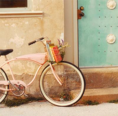 Vintage Pink Bike by Mandy Lynne