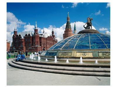 Manege Square and the State Historical Museum, Moscow, Russia--Art Print