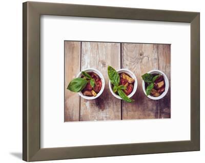 Vegan Food: Three Plates of Grilled Vegetables