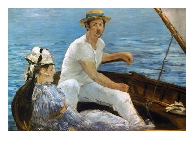 Manet: On A Boat, 1874-Edouard Manet-Giclee Print
