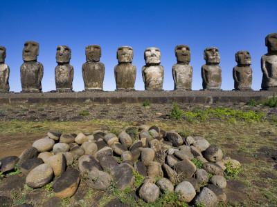 Moai Statues at Ahu Tongariki