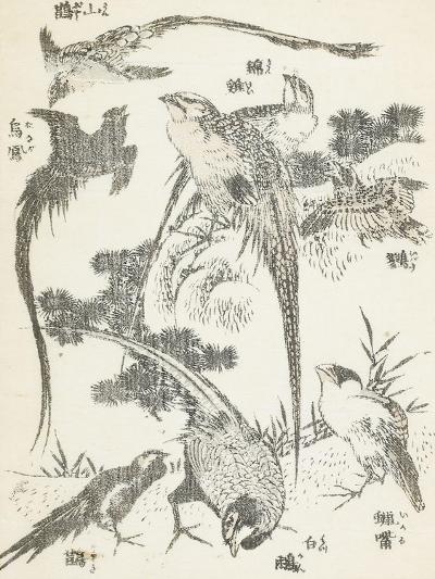 Manga, volume 3 : les lutteurs-Katsushika Hokusai-Giclee Print