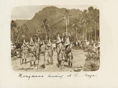 Mangaians Dancing at Rarotonga, C. 19th Century--Giclee Print