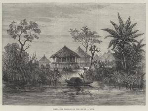 Manganja Village on the Shire, Africa