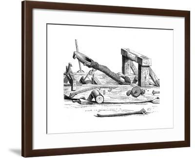 Mangonel, an Engine of War in the 15th Century--Framed Giclee Print