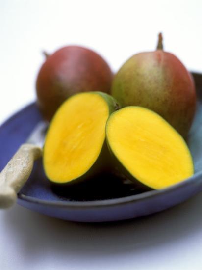 Mangos, One Cut Open-William Lingwood-Photographic Print