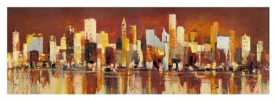 Manhattan al tramonto-Luigi Florio-Giclee Print