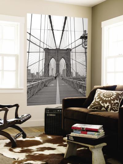 Manhattan and Brooklyn Bridge, New York City, USA-Alan Copson-Wall Mural