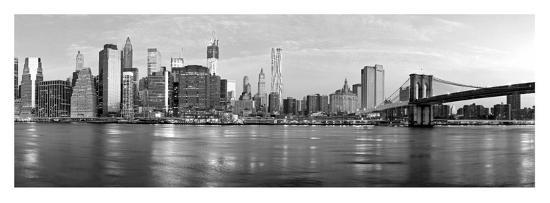 Manhattan and Brooklyn Bridge, NYC-Vadim Ratsenskiy-Giclee Print
