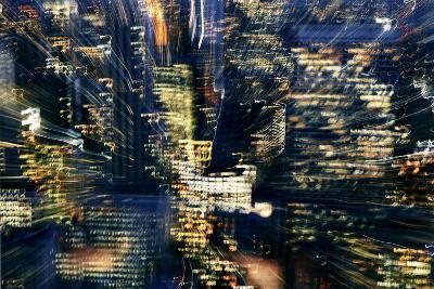 Manhattan at Night, Lights, Abstract, Artistic, New York City, Usa- Skaya-Photographic Print