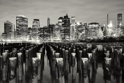 Manhattan at Night-Shobeir Ansari-Photographic Print