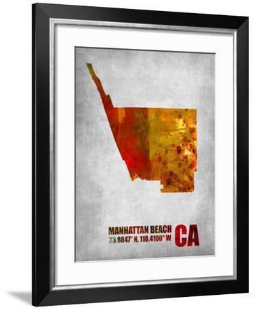 Manhattan Beach California-NaxArt-Framed Art Print
