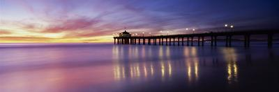 Manhattan Beach Pier, Manhattan Beach, San Francisco, California, USA--Photographic Print