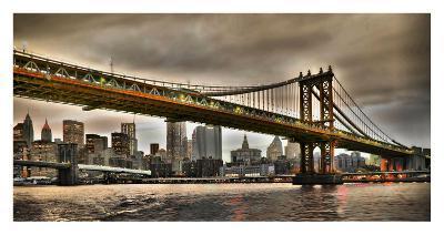 Manhattan Bridge and New York City Skyline, NYC-Vadim Ratsenskiy-Giclee Print