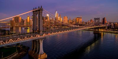 Manhattan Bridge at dawn, New York City, New York State, USA--Photographic Print