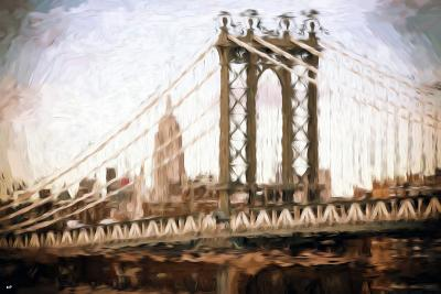 Manhattan Bridge III - In the Style of Oil Painting-Philippe Hugonnard-Giclee Print