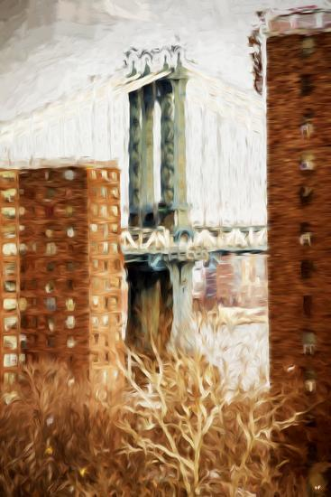 Manhattan Bridge - In the Style of Oil Painting-Philippe Hugonnard-Giclee Print