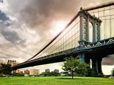 Manhattan Bridge of Brooklyn Park, Manhattan, New York, United States-Philippe Hugonnard-Photographic Print
