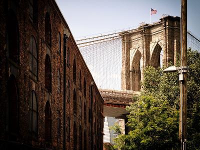Manhattan Bridge of Brooklyn Park, Vintage Colors, Manhattan, New York, United States-Philippe Hugonnard-Photographic Print