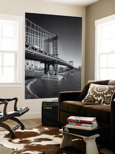 Manhattan Bridge Tugboat Afternoon-Henri Silberman-Wall Mural