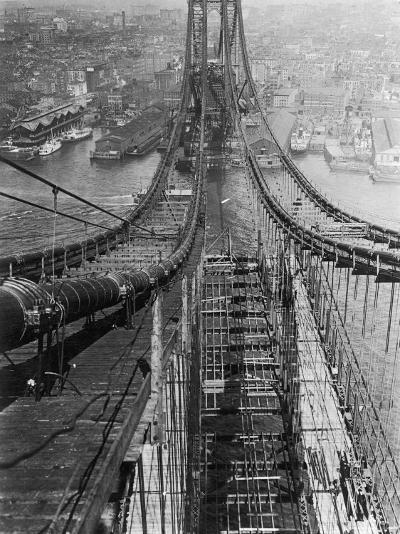 Manhattan Bridge under Construction--Photographic Print