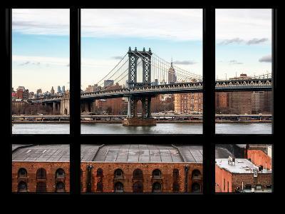 Manhattan Bridge with the Empire State Building - New York, USA-Philippe Hugonnard-Photographic Print