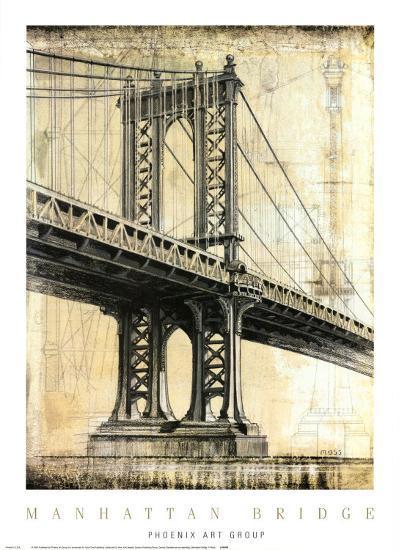 Manhattan Bridge-P^ Moss-Art Print
