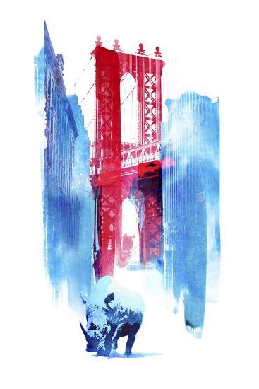 Manhattan Bridge-Robert Farkas-Giclee Print