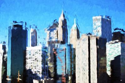 Manhattan Buildings III - In the Style of Oil Painting-Philippe Hugonnard-Giclee Print