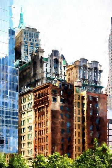 Manhattan Buildings III-Philippe Hugonnard-Giclee Print
