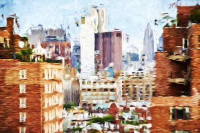 Manhattan Buildings VIII - In the Style of Oil Painting-Philippe Hugonnard-Giclee Print