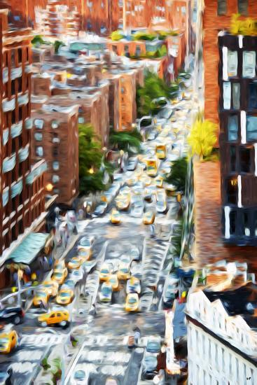 Manhattan City - In the Style of Oil Painting-Philippe Hugonnard-Giclee Print