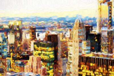 Manhattan Cityscape III - In the Style of Oil Painting-Philippe Hugonnard-Giclee Print