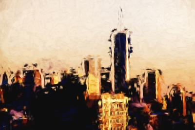 Manhattan Cityscape - In the Style of Oil Painting-Philippe Hugonnard-Giclee Print