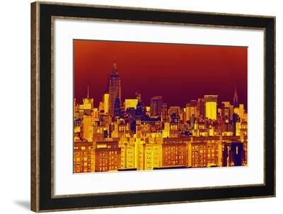 Manhattan Cityscapes - Pop Art skyline - New York City - United States-Philippe Hugonnard-Framed Photographic Print