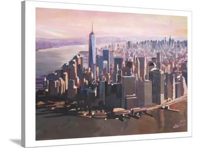 Manhattan Freedom-M Bleichner-Stretched Canvas Print
