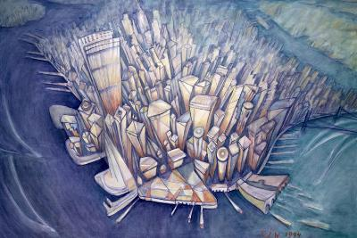 Manhattan from Above, 1994-Charlotte Johnson Wahl-Giclee Print