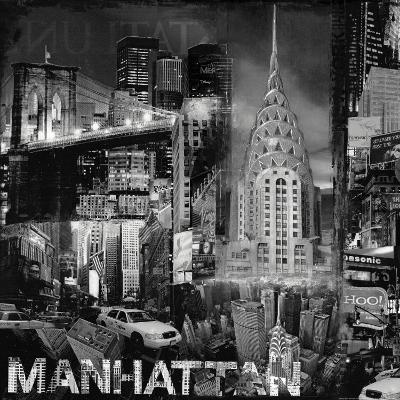 Manhattan in Black and White III-John Clarke-Art Print