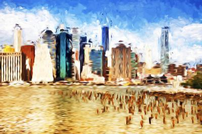 Manhattan Island II - In the Style of Oil Painting-Philippe Hugonnard-Giclee Print